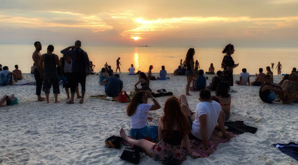 Sonnenuntergang am Zen Beach