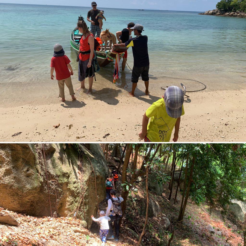 Thailand mit Kindern: Wandern durch den Dschungel