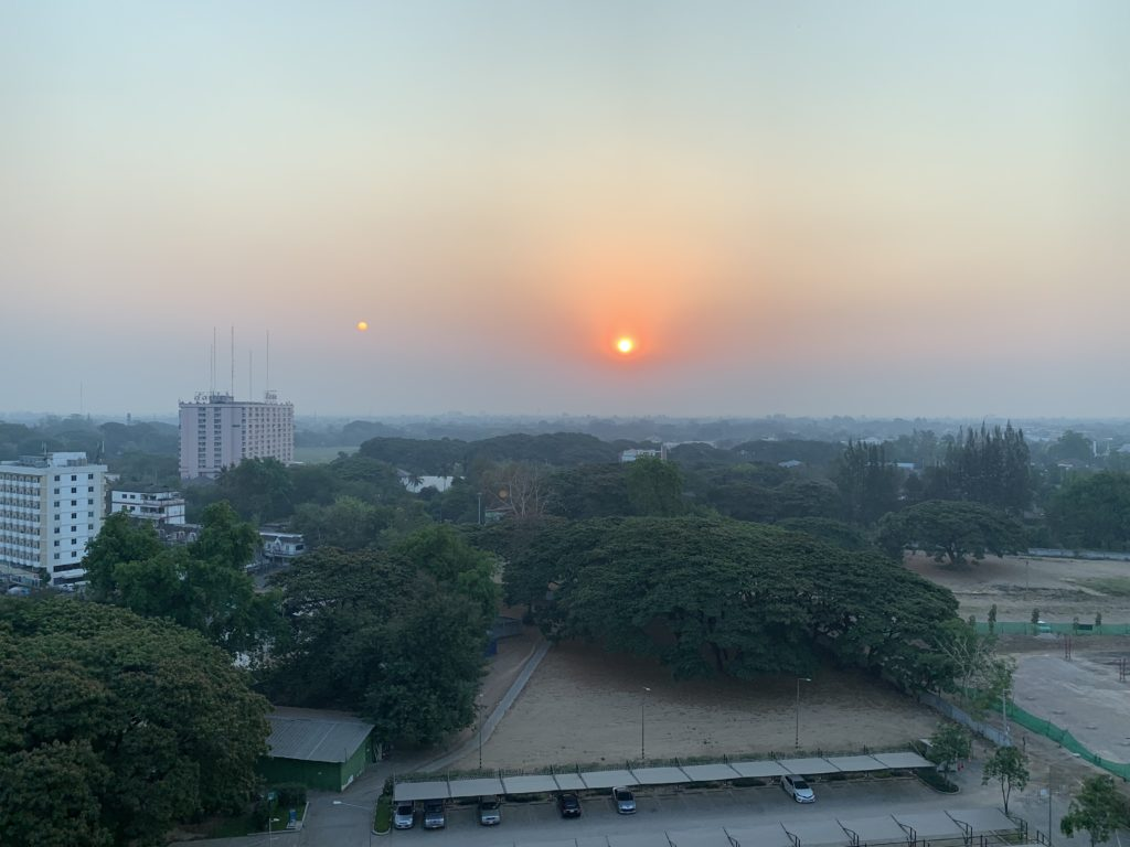 Sonnenaufgang in Chiang Mai